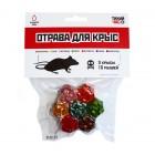 Отрава для крыс и мышей Тихий час (7 брикетов)